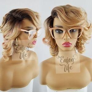 Celebrity blonde ash honey lace front wig